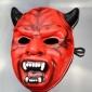 面具厂家供应万圣节红魔鬼面具高温发泡EVA面具加工定制