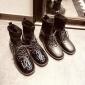 2018秋冬新款马丁靴女英伦风亮面真皮女靴 中跟平底女士短靴