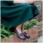 2016春季新款复古Vintage手工女单鞋 复古文艺粗跟森系手工女鞋