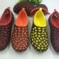 厂家直销夏季韩版休闲男女沙滩鞋鸟巢网状洞洞鞋双层底花园鞋凉拖